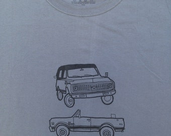 Chevy Truck Shirt- Chevy Truck Tee- Chevy Truck Gift- Chevy K5 Blazer- Sexual Humor- Funny- Hand Drawn Screen Print- Size Large