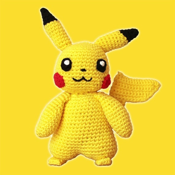 Amigurumi Free Patterns Bunny : Pikachu Pokemon. Amigurumi Pattern PDF Yellow Animal Toy