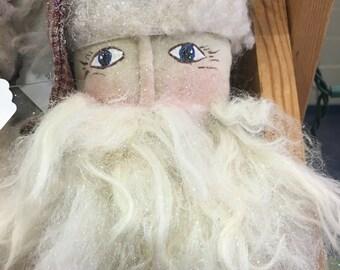 Primative Santa Ornament