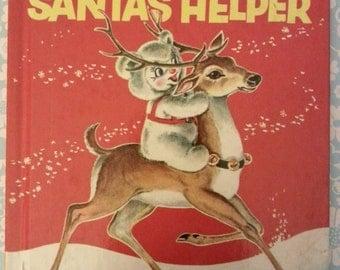 Vintage Children's  Kewtee Bear Santa's Helper 1956 Wonder Books