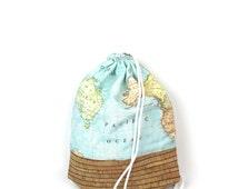 100% Cork maps of the world gym bag - hannisch