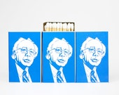Feel the Bern matchbox gag gift set. Political junkie gift. Bernie burnies matches. Bern, baby, bern. #feeltheBern for 2016.