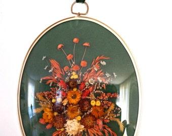 Vintage Dried Flowers Wall Art Framed Wall Art Dried Flower Art Dried Flower Wall Decor Dried Flower Arrangements Wall Hanging Flowers decor