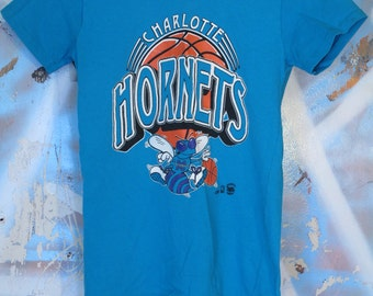 Vintage Charlotte Hornets T Shirt / 1990's 90's / NBA / Basketball / XS / Extra Small / Tee /