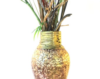 Beautiful EcoFriendly hand crafted vase for your living room/office