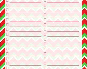 Blank Christmas Checklist - Printable