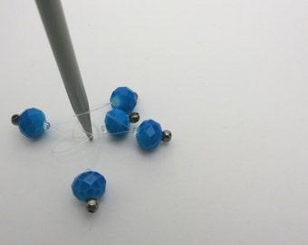 Snagless Stitch Marker | Blue Jewel Stitch Marker | Snagfree Stitch Marker | Knitting Stitch Marker