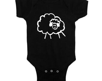 Little Sheep Logo Bodysuit - Black
