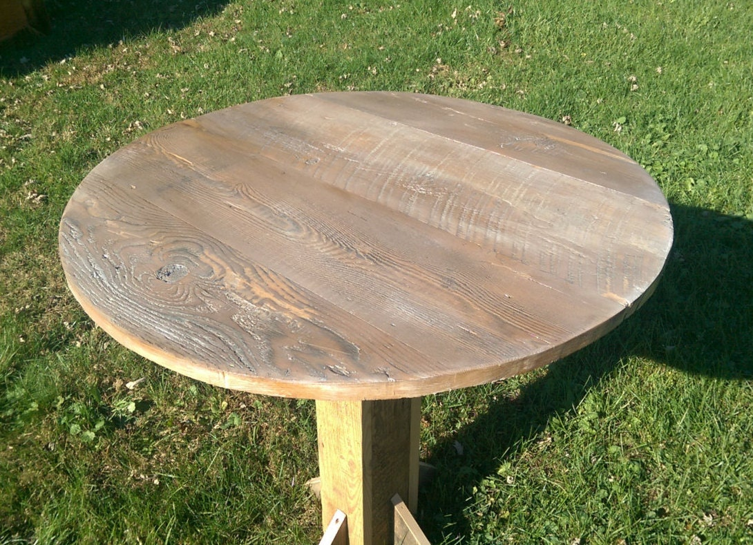 Reclaimed Barn Wood Table Top 32 Round