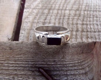 925 sterling silver ring, black onyx silver ring, stone ring for women, natural onyx ring for woman
