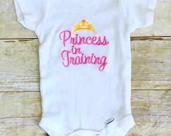 Princess in Training Onesie/Baby Girl Onesie/Shower Girl Gift