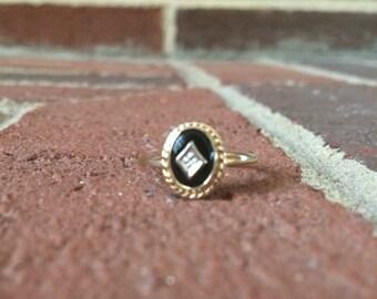 Black Onyx 10k Gold Ring