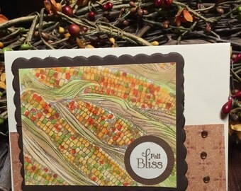 Indian Corn Fall Bliss Card