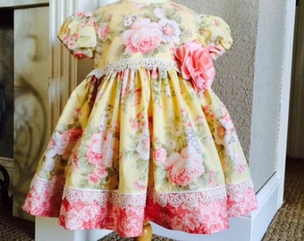 Baby Dress / Girls Dress and Bloomers / Size 12 months