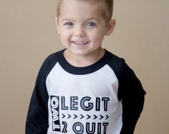 2nd Birthday Shirt - Second Birthday Shirt - Two Legit 2 Quit Shirt - 2 Legit - Boys Birthday - Two Year Old Shirt - Girls Birthday Shirt