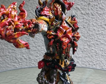 World of Warcraft Tier 12 Paladin - Firelord. 25cm x 25cm x 10cm.  Handmade.