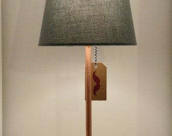 Table lamp / bedside copper and concrete