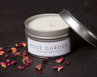 Rose Scented Soy Candle in Travel Tin