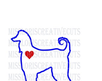Afghan love  dog Love SVG   cut file  t-shirts  Dog car decalscrapbook vinyl decal wood sign cricut cameo Commercial use