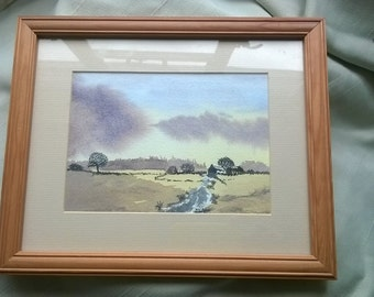 Fine Landscape Watercolour, 'A Country Landscape'