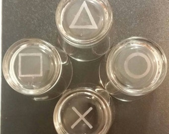 Set shot glasses shot Playstation Joystick