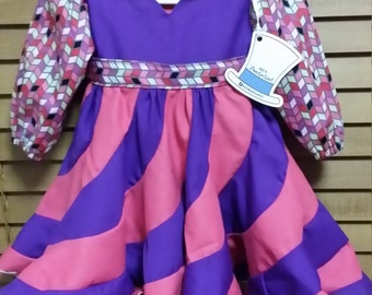 Twirly Swirly Dress in Pink and Purple SIZE 1