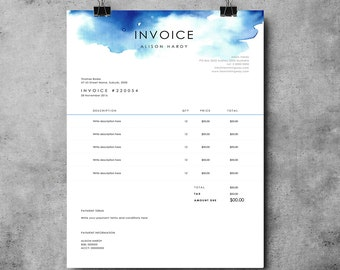 ms word invoice templates