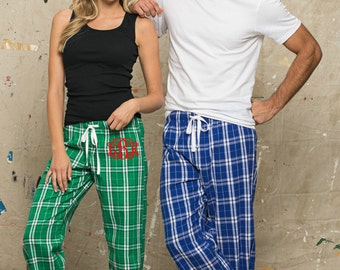 Personalized Pajama Pants, Monogrammed Lounge Pants, Flannel Pants, Great for Gifts