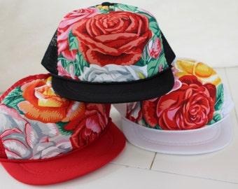 Rustic Rose Infant Trucker Hat