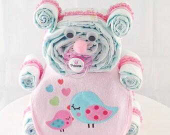 Diaper Bear For A Baby Girl