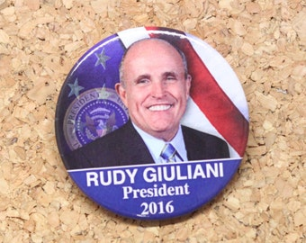 "2-1/4"" Rudy Giuliani for President 2016 Election Pinback Button"