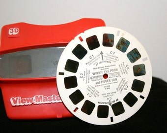 1980s View-Master With Slide//Winnie the Pooh Slide//Vintage 3D View-Master
