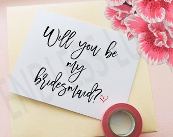 Will You Be My Bridesmaid Card- Will You Be My Bridesmaid - Personalized Bridesmaid Card -  Bridesmaid Proposal - Bridesmaid Gift