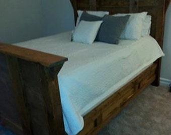 hand made Rustic Bed.