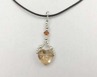 Pendant in silver and Swarovski Elements