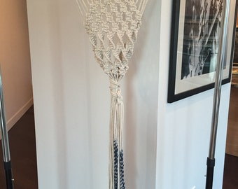 "Lovingly made, Hand-dyed Gorgeous Piece of Macrame Goodness, ""Emerge"""