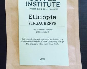 Ethiopia Yirgacheffe Roasted Coffee Beans 250g