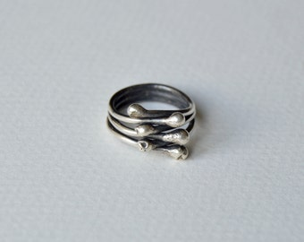 IVY Silver ring, sterling silver handmade ring, FREE SHIPPING
