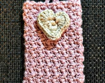 handcrafted crochet phone cozy