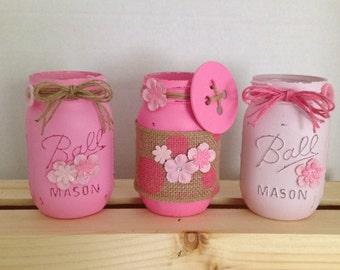 Buttons & Burlap Mason Jars