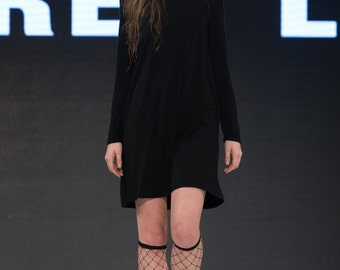 Embroidered Turtle Neck Dress