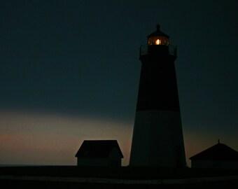 A Light in a Storm, Pt Judith Light, Coast Guard Station, Narragansett, Rhode Island, Ocean, Atlantic, Stormy, Lighthouse,