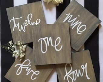 Mauve Blogs | Custom Wood Table Numbers & Signs
