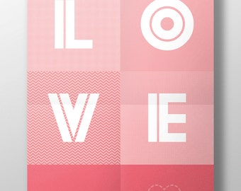 "Poster ""LOVE is spoken here"" [to customize] [printable]"