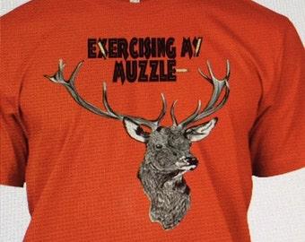 Customized Sublimated Deer Head T Shirt (Vapor)/Hunting, Deer Hunting-White available now