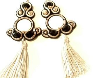 "Soutache ""Romantic""/Soutache earrings earrings ""Romantic"""