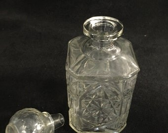 Vintage Square Glass Decanter