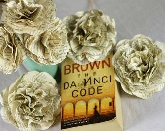 """CUSTOM MADE """"The Da Vinci Code"""" Flower Bouquet Using A Second Hand Novel"""