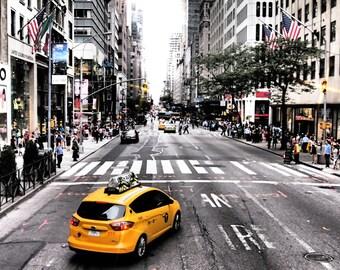 Taxi - Taxi Photo - Street - Street Photo - Urban - Urban Photo - City - Photography - Digital Photo - Instant Download - Office Decor