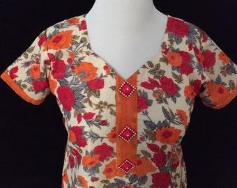 Floral Printed Dress/Kurta